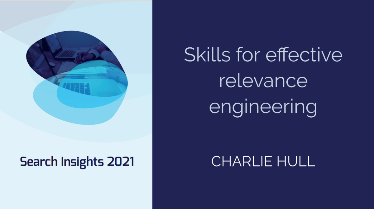 Skills for effective relevance engineering