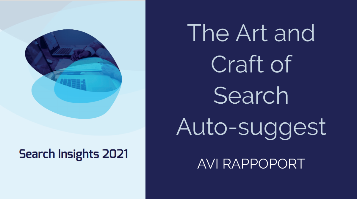 The Art and Craft of Search Auto-Suggest