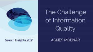 The Challenge of Information Quality
